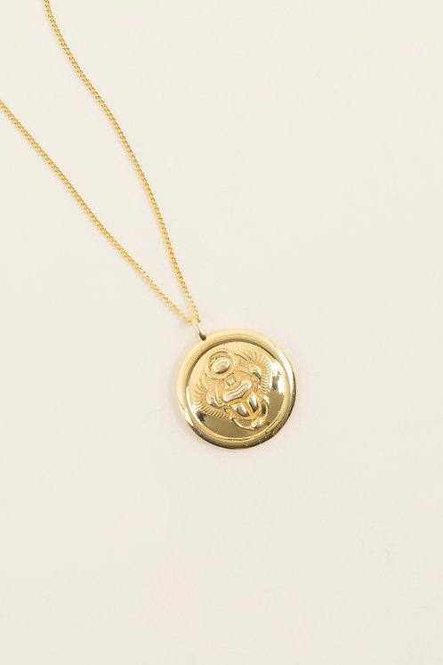 MI MUJER ATELIER scarab medallion charm