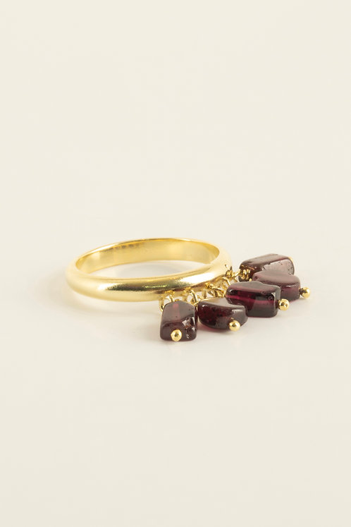 venn ring with garnet