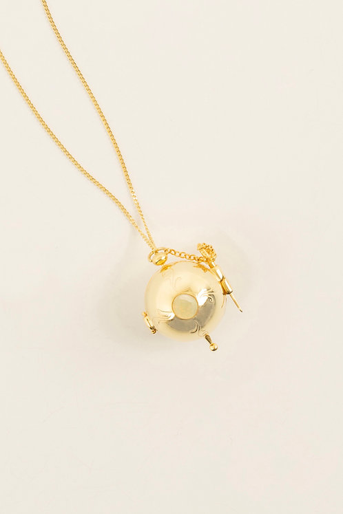 MI MUJER ATELIER locket sphere charm with opal