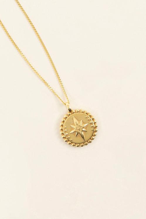 MI MUJER ATELIER northern star medallion charm