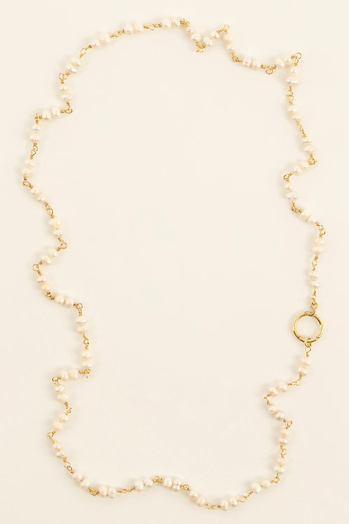 pearl chain & choker