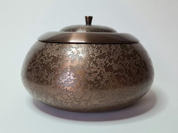 Patinated Brass Pot