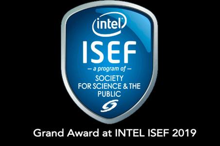 Grand Award at INTEL ISEF 2019