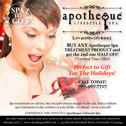 Spa Products - Get 2nd one half off