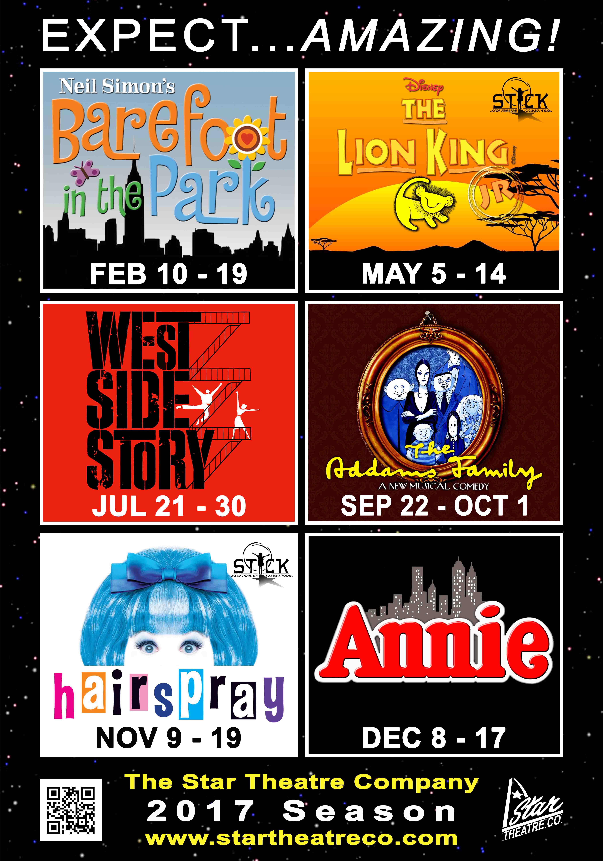 Star Theatre 2017 Shows!