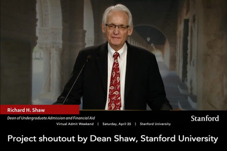 Project shoutout by Dean Shaw, Stanford University