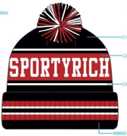 SR 21° F Black Cuffed Knit Pom Hat