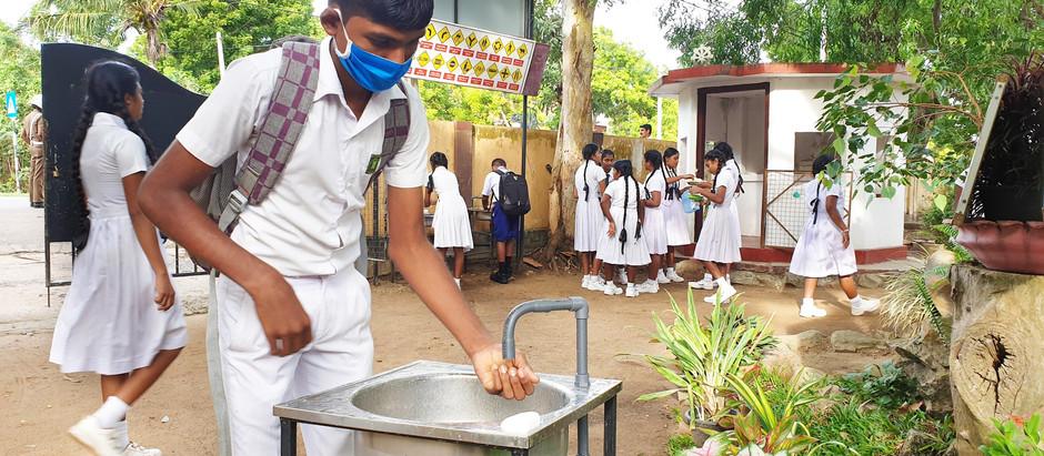 School hand washing stations