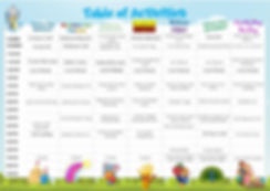 Cool Zone Actvities TIMETABLE UPDATED 20