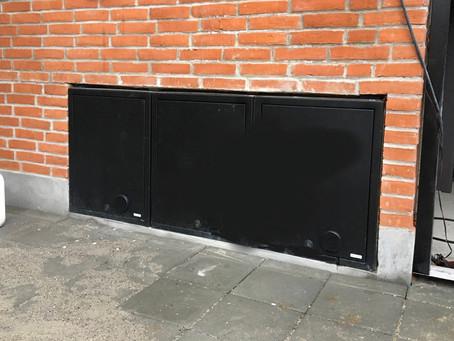 Indbygningsskab i top kvalitet rustfrit stål