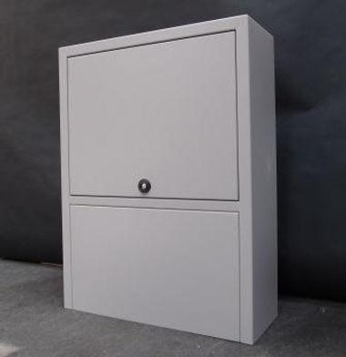 Fjernvarmeskab i rustfrit stål alt er designet og udført af DK Cover ApS