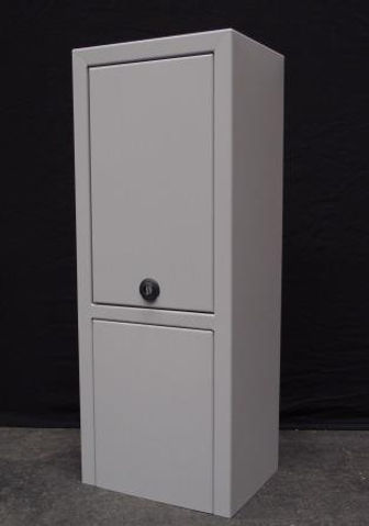 Fjernvarmeskab i RAL 7036 i special design