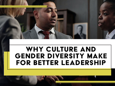 Why Culture and Gender Diversity Make For Better Leadership