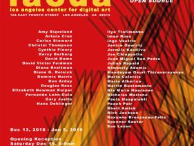"""Open Source "" International Exhibition LACDA, LA, USA"