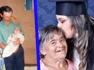 Joven llena de orgullo a su madre con síndrome de Down al graduarse con honores