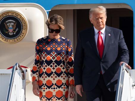 El nuevo desplante de Melania Trump a su esposo nada más aterrizar en Florida