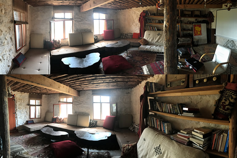 Taş ev iç mekanı