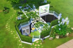 Düz arazide yeraltı ev