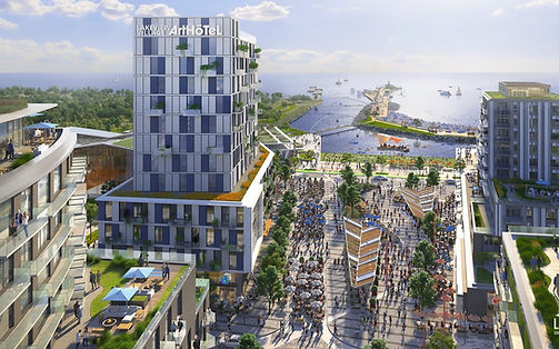 Lakeview-Square-at-Lakeview-Village-Aerial-View-Renderings-by-Cicada-Design-Inc.-Toronto-C