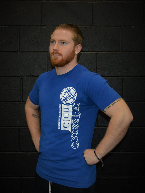 Blue/White Crossfit Clan Tee