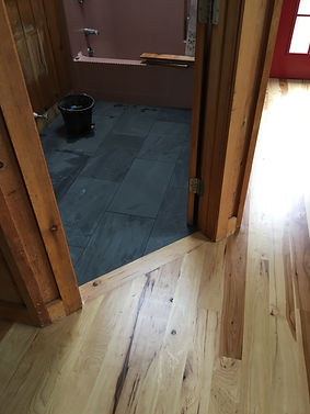 Flooring, Martha's Vineyard- tile meets wood