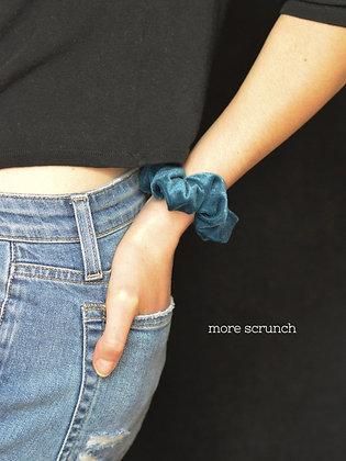 OTG Blue Crushed - Scrunchy