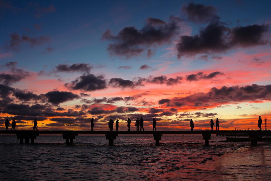Higgs Beach Sunset