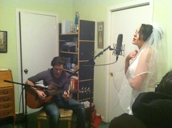 Music Soundtrack recording after film shoot for 'I Don't' filmed in one day!