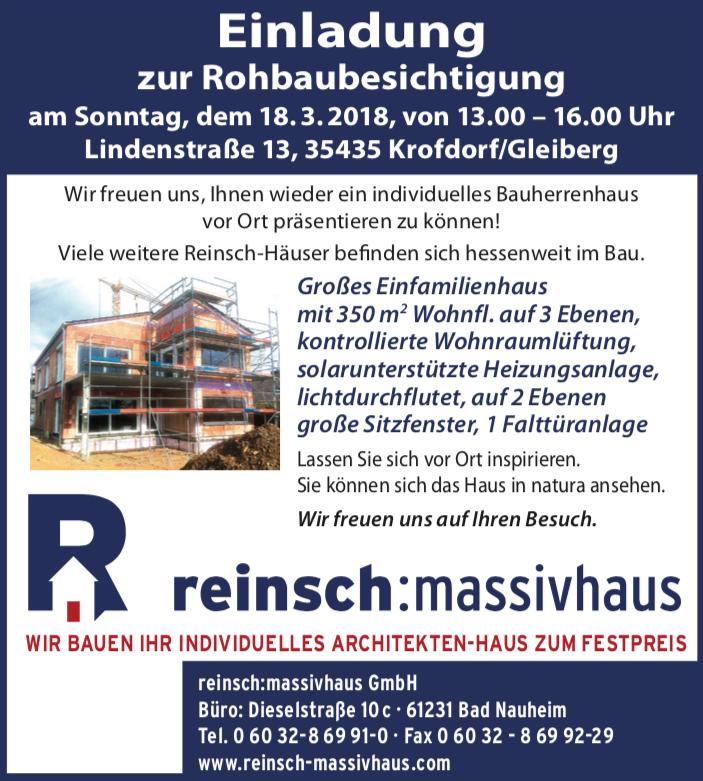 Massivhaus bauen Bad Nauheim | Reinsch Massivhaus GmbH