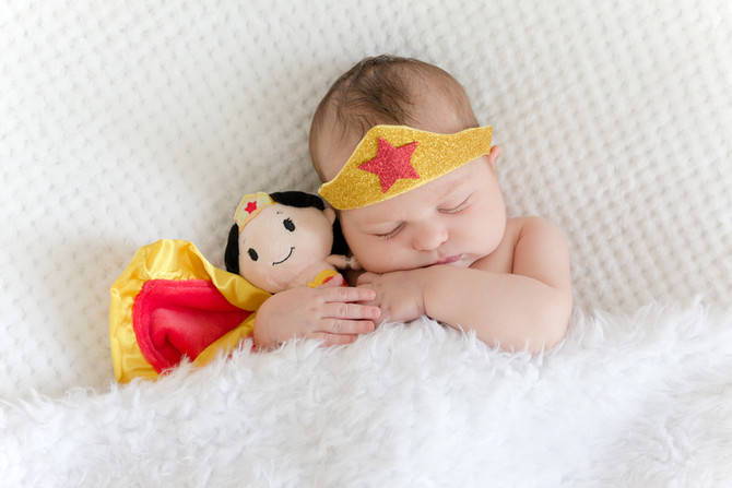 Ava | Superhero Newborn Session