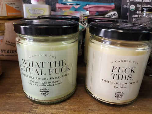 Whiskey River hand poured soy candles