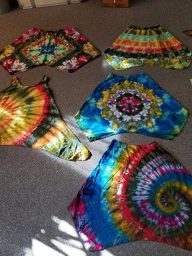 Asymmetrical hippie skirt