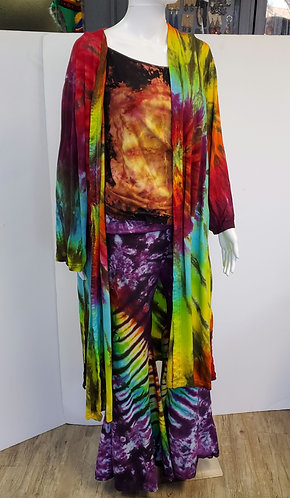 Long and Lean Duster Coat Rayon Jersey