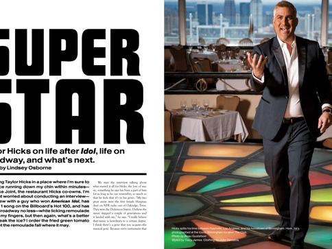 Taylor Hicks in B Metro Magazine Exclusive