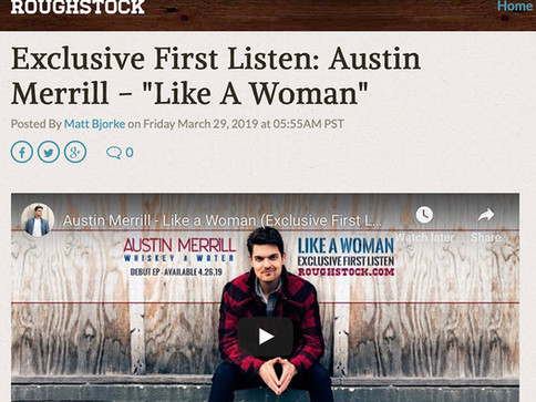 Roughstock Offers Exclusive First Listen of Austin Merrill