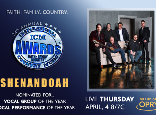 Shenandoah Nominated Twice for the 24th Annual ICM Awards