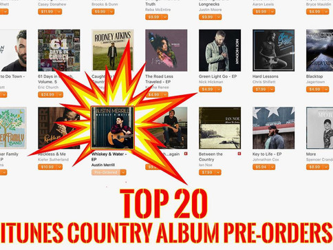 Austin Merrill's Debut EP Hits iTunes Top 20 Album Pre-Orders Day of Release