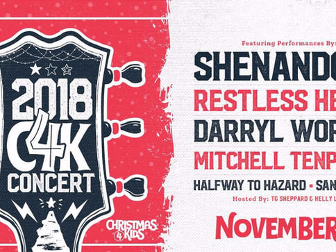 Shenandoah and Sandra Lynn to Perform at the 2018 Christmas for Kids Benefit Concert