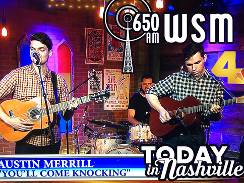 Austin Merrill Makes his TV debut on Today in Nashville and Radio Debut on WSM