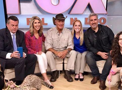 Taylor Hicks and Jack Hanna on Fox35 in Orlando