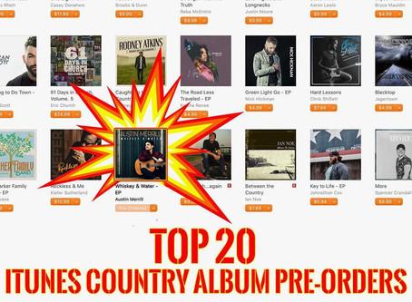 Austin Merrill's Debut EP Hits iTunes Top 20 Album Pre-Orders Day of Release
