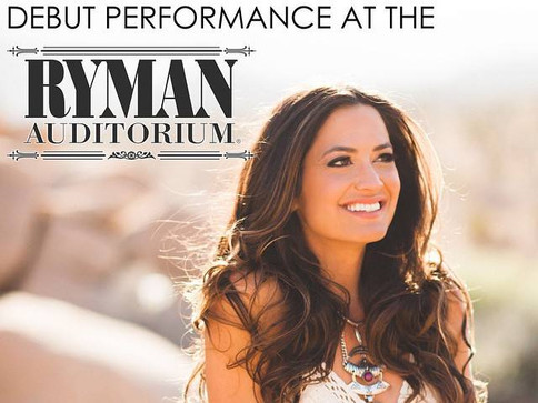 Annie Bosko makes debut performance at the historic Ryman Auditorium