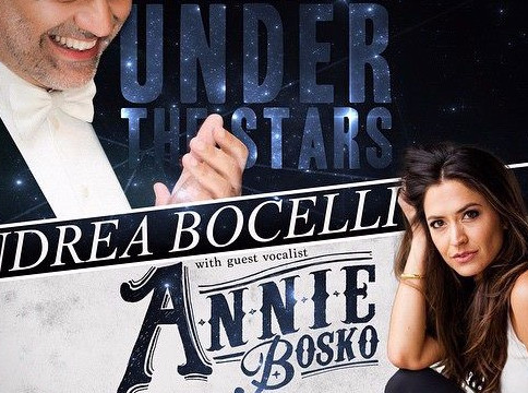 Annie Bosko Performs with Andrea Bocelli at Special Event