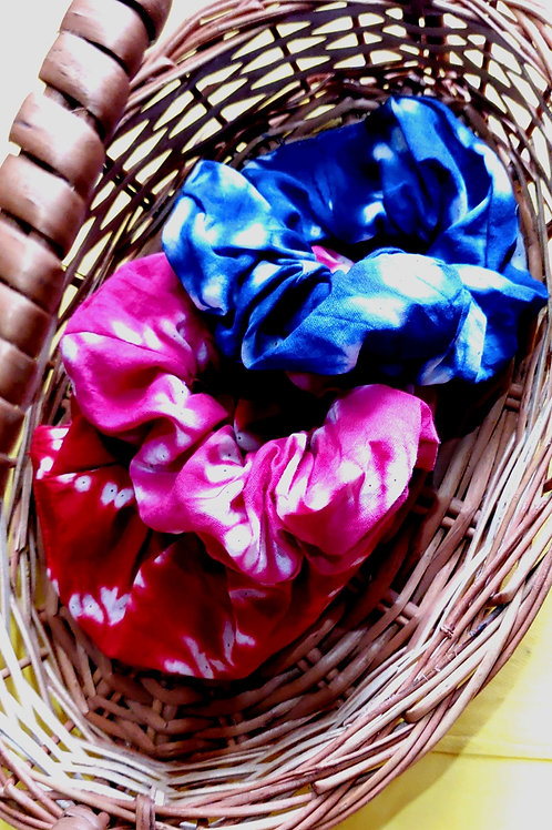 Tie-Dye Print Scrunchies Set of 3