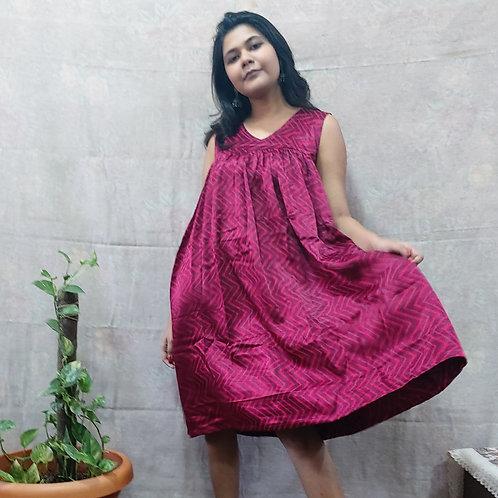 Pavaki Mashru Silk Dress