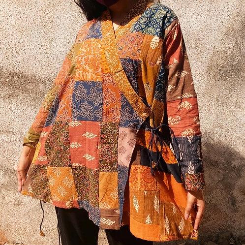 Ajrak patchwork kimono Jacket