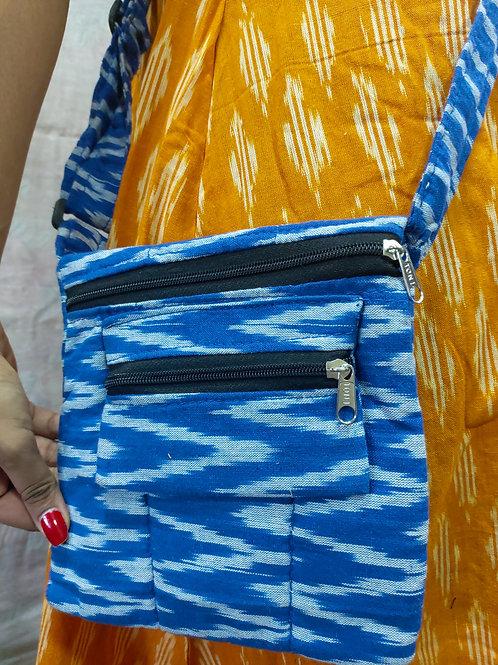 Blue Ikat Sling bag