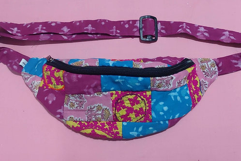 Upcycled fabric belt bag