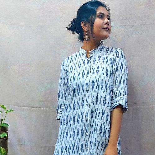 Aarya Multipurpose Ikat Dress/Shrug/Kurta
