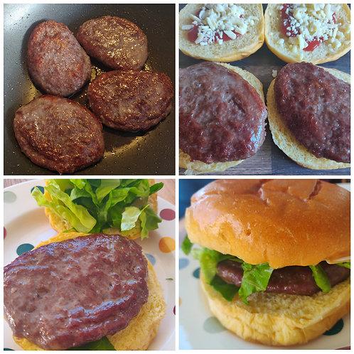 12 beef burgers (frozen)